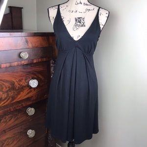 Bebe Black V-Neck Spaghetti Strap Dress S